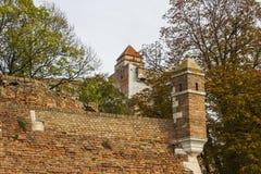 Mur antique de la forteresse de Belgrade serbia photographie stock libre de droits