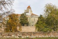 Mur antique de la forteresse de Belgrade serbia photos stock