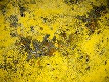 Mur antique jaune Photographie stock libre de droits