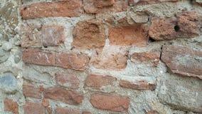 Mur architectonique unique de vintage des briques dans un château Toscane Italie photos stock