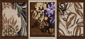 Mur Art Decor, décor multicolore de fleur de tuile de mur de Digital pour la conception à la maison ou en céramique intérieure de illustration de vecteur