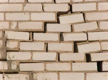 Mur au cours d'étendre la destruction Photographie stock libre de droits