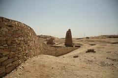 Mur au désert Photographie stock
