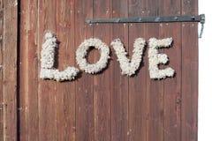 Mur avec amour Images libres de droits