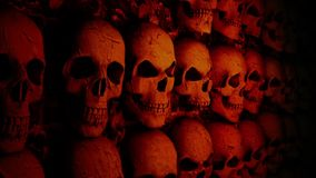 Mur avec des crânes clips vidéos