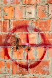 Mur avec des dommages de balle Photographie stock