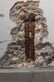 Mur avec des fissures Photographie stock