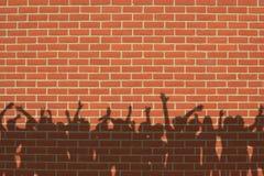 Mur avec des ombres Image stock