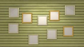 Mur avec des photos Images libres de droits