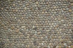 Mur avec des pierres de mer Photographie stock libre de droits