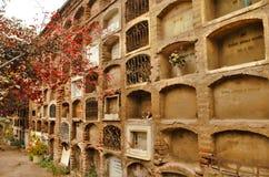 Mur avec des tombes Image libre de droits