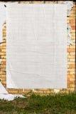 Mur avec l'affiche blanc images libres de droits