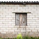 Mur avec l'endroit pour une fenêtre Images libres de droits