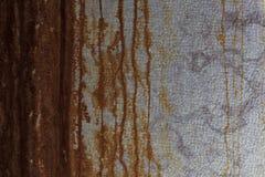 Mur avec la rouille à employer comme fond photographie stock libre de droits
