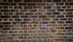 Mur avec le fond de paysage de mod?le de briques photographie stock libre de droits
