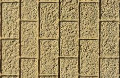 Mur avec le fond jaune de plâtre Photo stock