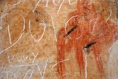 Mur avec le graffiti Photographie stock