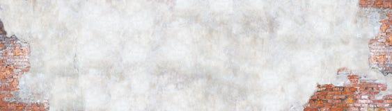 Mur avec le plâtre d'épluchage, fond grunge pour la conception Photo libre de droits