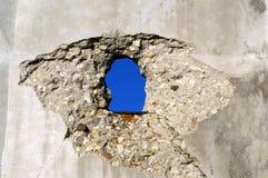 Mur avec le trou Photo stock
