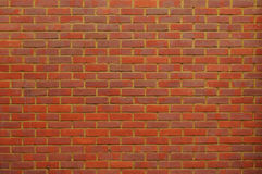 Mur avec les briques rouges Photos libres de droits