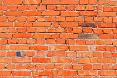 Mur avec les briques rouges Image stock