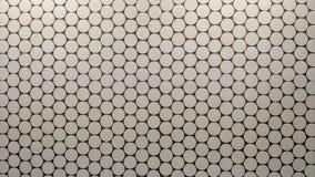 Mur avec les plats blancs ronds illustration de vecteur