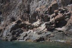Mur basaltique de la falaise rocheuse Photo libre de droits