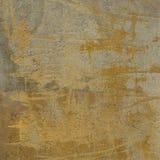 mur beige grunge de jaune orange du résumé 3d Image libre de droits