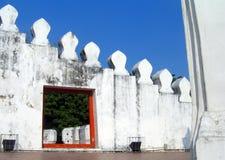 Mur blanc à Bangkok Photographie stock