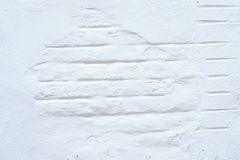 Mur blanc avec des briques photos libres de droits