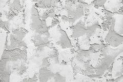 Mur blanc avec le stuc décoratif de soulagement image stock