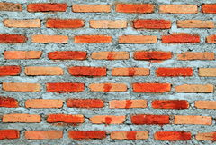 mur Blanc-brun des briques pour le fond Photo libre de droits