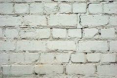 Mur blanc criqué Photo libre de droits
