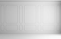 Mur blanc dans la pièce classique de style Image stock