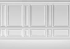 Mur blanc dans la pièce classique de style Image libre de droits