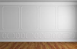Mur blanc dans la pièce vide de style classique illustration libre de droits