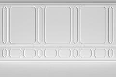Mur blanc dans le style classique illustration stock