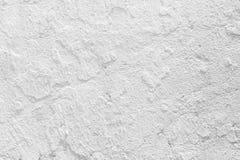 Mur blanc de ciment de peinture de texture grunge de plan rapproché Image libre de droits
