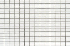 Mur blanc de tuile Photographie stock libre de droits