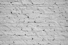 Mur blanc des briques pour le fond Images libres de droits