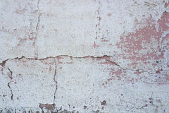 Mur blanc et rose de vintage Photo libre de droits
