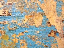 Mur bleu Images libres de droits