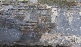 Mur bleu criqué Photographie stock
