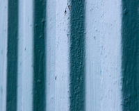 Mur bleu en métal de vintage Photos stock