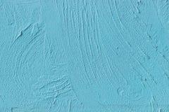 Mur bleu peint de ciment Image libre de droits