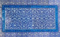 Mur bleu turc de tuile image libre de droits