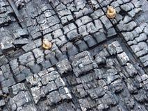 Mur brûlé image stock