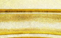Mur brillant de tuile de mosaïque d'or, fond de texture Image libre de droits