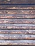Mur brun naturel en bois de grange Image libre de droits