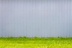 Mur cannelé en métal photographie stock